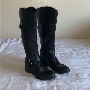 143 Girl Classic Black Knee High Boots 10M